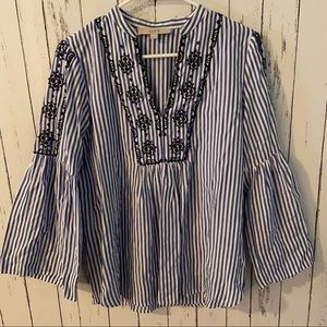 Loft embroidered blouse